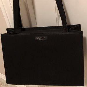 Kate Spade Black Fabric Shoulder Bag